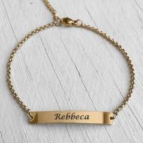 ID Name Bracelet Gold