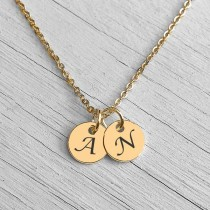 Initial Pendant Necklace Gold
