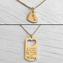 Mother Daughter Necklace Gold