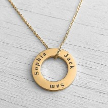 Washer Necklace Gold