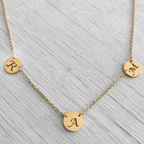 Twin Link Gold Pendants