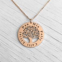 Family Tree Pendant Rose Gold