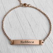 ID Name Bracelet Rose Gold