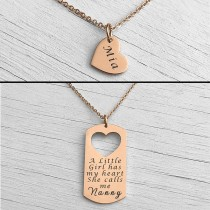 Mother Daughter Necklace Rose Gold