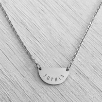 Eclipse Necklace Silver