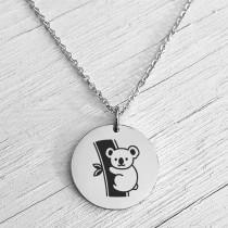 Koala Necklace Silver