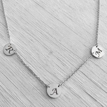 Twin Link Silver Pendant