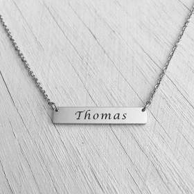 Bar Necklace Silver