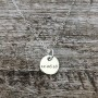 disc necklace sterling silver